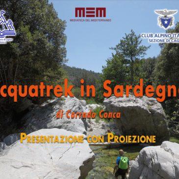 """15 luglio -presentazione libro """"Acquatrek in Sardegna"""""""